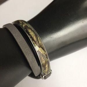 "Lia Sophia ""Slither"" Leather Wrap Bracelet"
